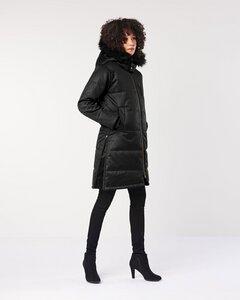 Daunenmantel - Ladies' Nordic Puffer - Black - Hoodlamb