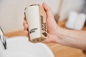 Zahnputzbecher aus nachwachsenden Rohstoffen | Farbe beige - HYDROPHIL