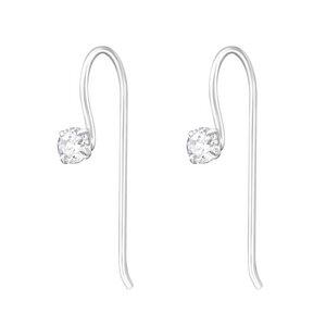 Zarter Bügel-Ohrring mit Stein - 925er Sterling Silber - LUXAA