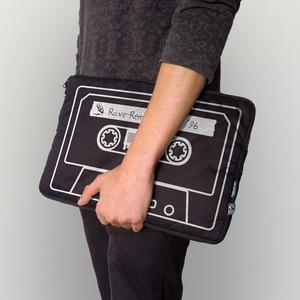 Laptoptasche 13' aus Biobaumwolle - verschiedene Motive - shop handgedruckt