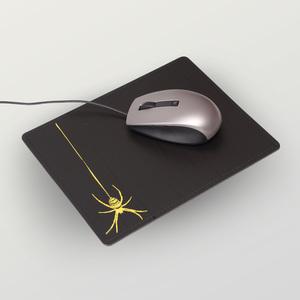 Mousepad aus Recyclingleder verschiedene Motive - shop handgedruckt
