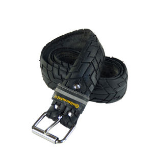 Upcycling Gürtel  'Cycle'  aus Fahrrad-Reifen mit Profil (vintage) - Tire Belt