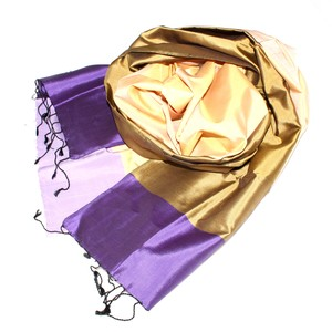 SARINA Edler Schal aus handgewebter Seide - Schönes aus Indochina