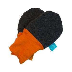 Baby Fleece-Handschuhe anthrazite - bingabonga®