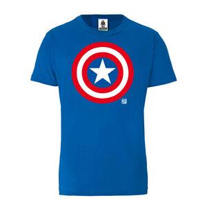 LOGOSHIRT - Marvel - Captain America - Logo - Organic T-Shirt  - LOGOSH!RT