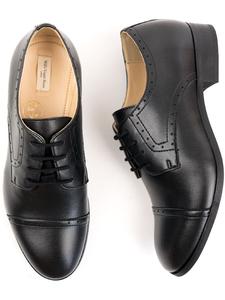 City-Derbys Schwarz Herren - Wills Vegan Shoes