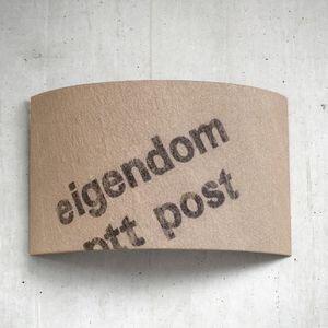 Wandleuchte Hauspost N°30 aus belgischem Postsack - lumbono