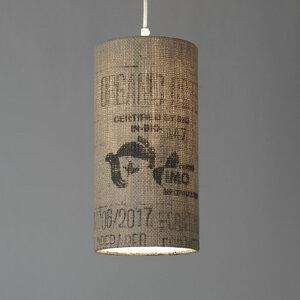 Pendelleuchte Perlbohne N°37 aus Kaffeesack - lumbono