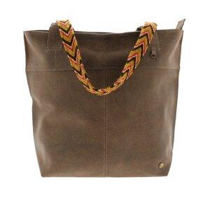 Estilo Wayuu Shopper  Rindsleder - Graublau, Bisonbraun oder Olivgrün  - MoreThanHip