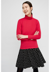 Laila Roll Neck Top Pink - People Tree