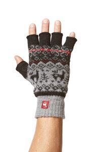 Alpaka Strickhandschuhe fingerlos aus Peru - ANDEN VIENTOS - Apu Kuntur