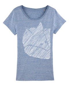 Fuchs 2.0 Women Shirt _white/ cream heather blue - ilovemixtapes