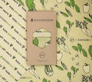 Bienenwachstuch 2er Set M/L bedruckt - Gaia Wrap