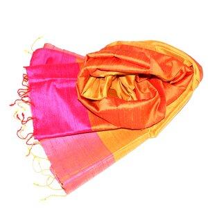 SUNA Edler Schal aus handgewebter Seide - Schönes aus Indochina