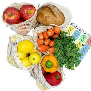 Gemüsebeutel & Obstbeutel + Brotbeutel, Obstnetz, Gemüsenetz [5x] - EcoYou