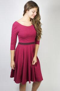 Kleid 'Vrida' bordeaux/ aubergine - Frija Omina