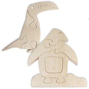 Holzpuzzle Tukan INGO und Pinguin PABLO im Set 5 bis 6-teilig - NATUREHOME