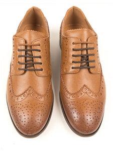 City Wingtip Brogue Oxfords Hellbraun Herren - Wills Vegan Shoes