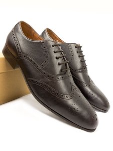 City-Oxford Wingtip Brogues Dunkelbraun Herren - Will's Vegan Shop