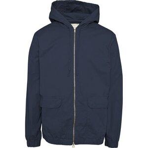 Übergangsjacke - Poplin hood jacket with big pockets - Total Eclipse - KnowledgeCotton Apparel