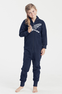 "Bio-Kinder-Jumpsuit ""Sperber"" - Peaces.bio - Neutral® - handbedruckt"