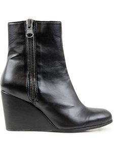 Luxe Wedges-Bootie Schwarz Damen - Will's Vegan Shop