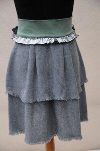 Wollrock grau  - käufer (d) sein