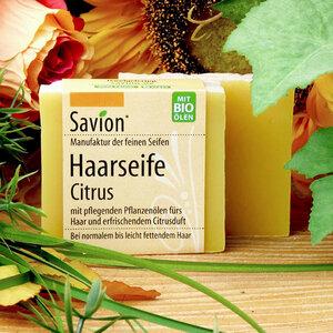 Savion Haarseife Citrus Haarwaschseife 85g - Savion feine Seifen