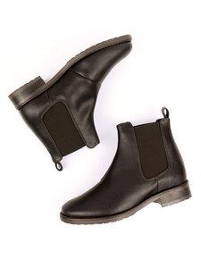 Elegante Chelsea-Boots Dunkelbraun Damen - Will's Vegan Shop