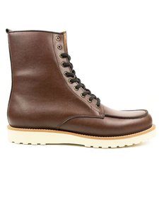 Hoch Rig Booties Kastanie Herren - Will's Vegan Shop