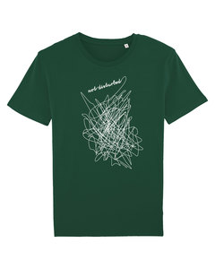 "Bio Faires Herren T-Shirt ""not disturbed"" bottle green - ilovemixtapes"