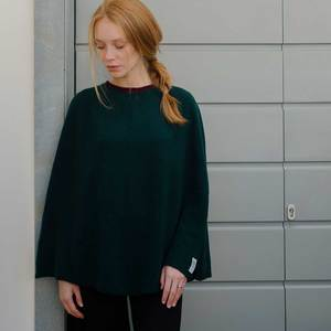 Upgecycelter Kashmir-Poncho – Sophia  - Rifò - Circular Fashion