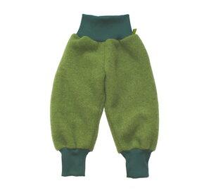 Kinder Wollfleecehose, moosgrün/ rot/ saphirblau - MIRRORMONKEY