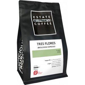 Estate Coffee Tres Flores 200 Gramm, ganze Bohnen Espresso Tres Flores, 200g Bio - Estate Coffee