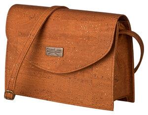 CorkLane Damentasche aus Kork, Umhängetasche braun, Peta geprüft VEGAN - Corklane