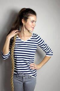 """in 4 Farben: Bio 3/4 Arm-Shirt """"Winda"""" Streifen - Frija Omina"""
