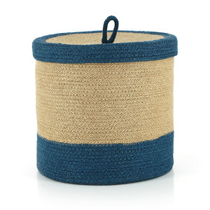 Korb BEAUTE INDIGO, Jute - GLOBO Fair Trade