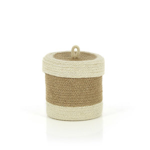 Korb BEAUTE WEISS, Jute - GLOBO Fair Trade