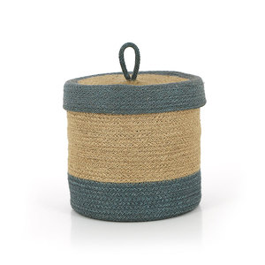 Korb BEAUTE GRAU, Jute - GLOBO Fair Trade