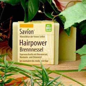 Savion Hairpower Brennnessel Haarwaschseife 85g - Savion feine Seifen