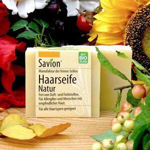 Savion Haarseife natur Haarwaschseife 85g - Savion feine Seifen