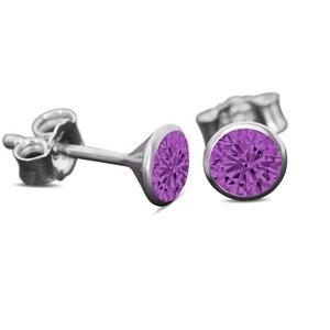 Ohrringe Stecker 925 Silber mit nachhaltigem Kristall - Made in Germany - nickelfrei und rhodiniert - JuliaPilot