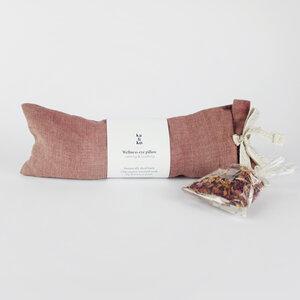 WELLNESS Augenkissen mit Rosenblüten & Senfkörner - Kaliko