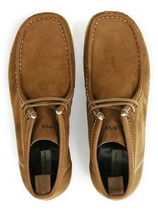 Mokkassin-Stiefel Braunes Veganes Wildleder Herren - Wills Vegan Shoes