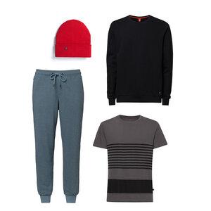 Herren Sweater T-Shirt Jogginghose Mütze 4er Pack Bio Fair - THOKKTHOKK