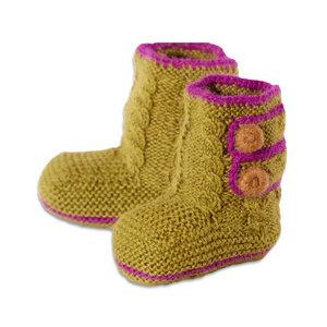 Baby Alpaka Boots aus Fairem Handel Grün o. Orange o. Blau - Chill n Feel