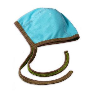 Seidenweiches Baby Häubchen aus Pima Baumwolle kbA in Blau o. Weiß - Chill n Feel
