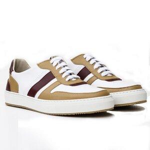 Alvaro Sneaker (weiß/ocker/rot, MF) - Fairticken