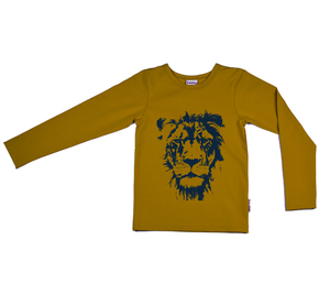 Langarm Shirt Löwe senfgelb - Baba Babywear