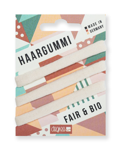 Haargummi #FAIRHAIR 3er Pack ecru uni - Degree Clothing